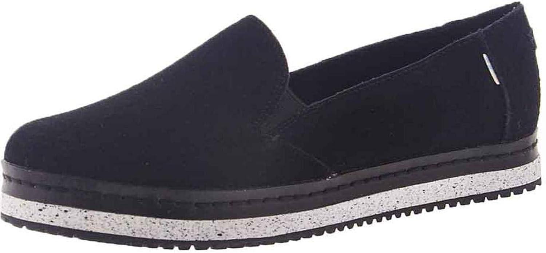 TOMS Damen Women Palma Leather Wrap Black Espadrilles