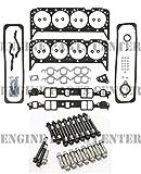 1987-96 Chevy GMC 5.7 350 VIN-K TBI Head Gasket Set & New Head Bolts