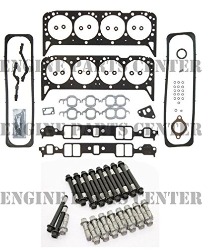 Valve Set Throttle - Head Gasket Set & New Head Bolts compatible with 1987-96 Chevy GMC 5.7 350 VIN-K TBI
