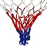 ajzdnzvr Professional Nylon Thick Thread Three Color Universal Basketball Net Mesh Replacement Heavy Duty Outdoor Net