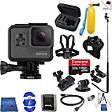 Cheap Gopro Hero 5 Black 14 Piece Excursion Bundle Includes: Go Pro Hero5 Black + Case + Floaty Bobber + Chest Strap + Glove Mount + Monopod + More