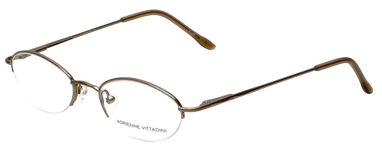 49fd1c24b7a7 Amazon.com  Adrienne Vittadini Designer Eyeglasses AV6008-112 in Gold 47mm  DEMO LENS  Clothing