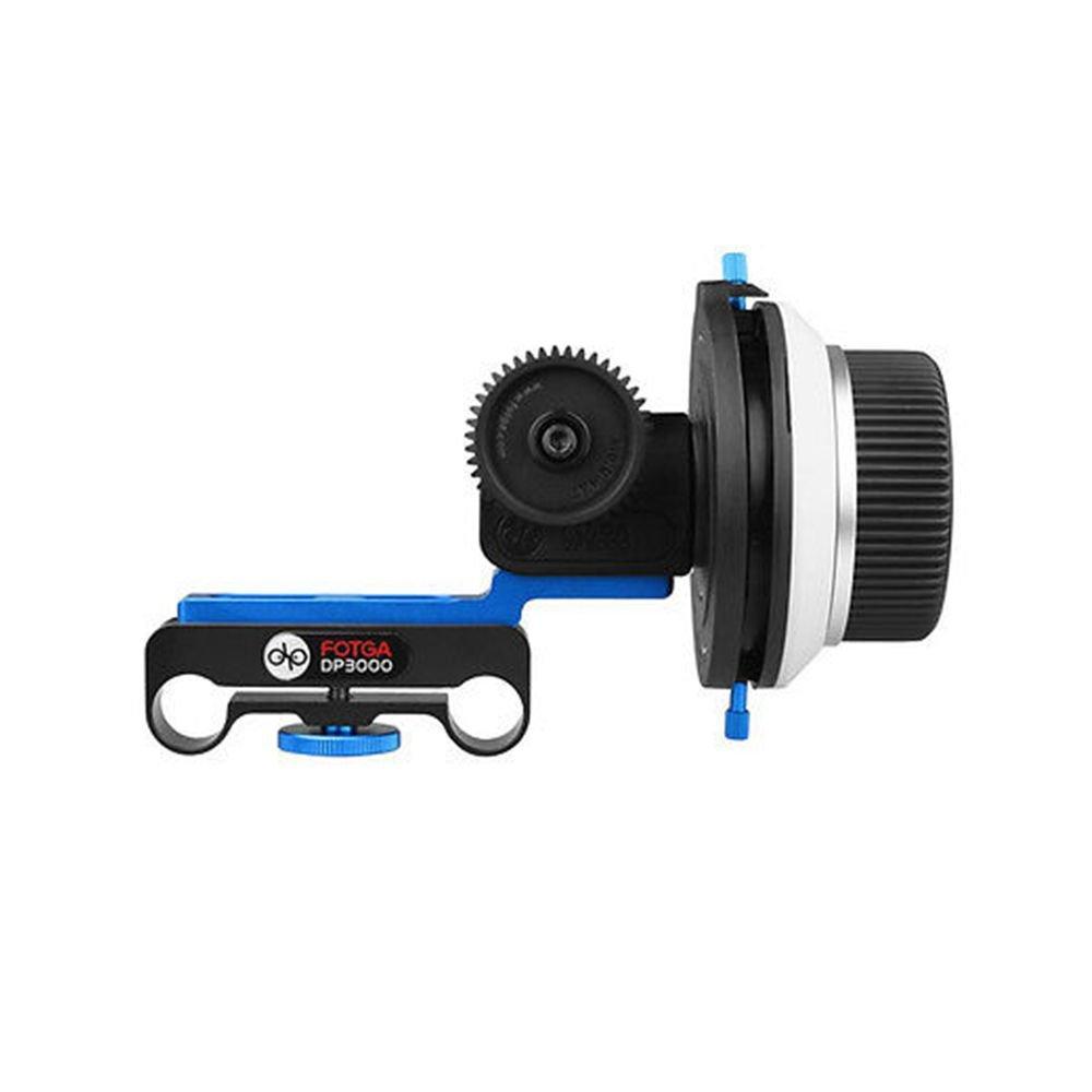 Fotga DP3000 M2 DSLR Follow Focus with A/B Hard Stops for 15mm Rod Rail System 5D II III 7D 60D A7 A7R A7S II III GH4/5/5S Blackmagic BMPCC 4K Video Filmmaking by FOTGA