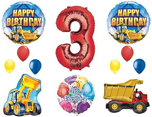 The Ultimate Construction 3rd Birthday Party Supplies and Balloon Decorations