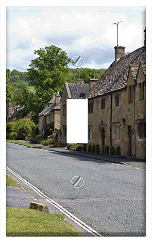 Switch Plate Single Toggle - Cotswold Village Street ()