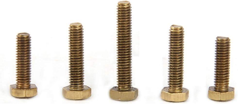 Xiedeai Vis Fixations Boulons M8 M10 Boulons /à Six Pans Vis en Laiton Boulon de Machine /à Clouer Enti/èrement Filet/é