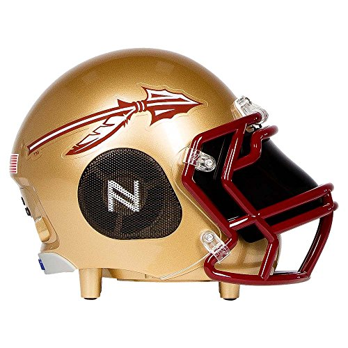 Nima Athletics Portable Bluetooth Speaker, [Officially Licensed] NCAA College Football Helmet Wireless Stereo Speaker Built-in Mic, Loud HD Sound Bass (5