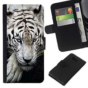 KingStore / Leather Etui en cuir / Samsung ALPHA G850 / Tigre so?oliento lindo feroz animal