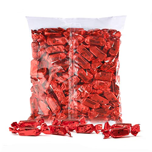 - Red Foils Chewy Taffy Candy, 1-Pound Bag of Red Color Themed Kosher Candies Individually Wrapped Cherry Fruit-Flavored Taffies (NET WT 454g, About 63 Pieces)