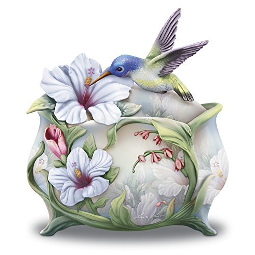 Bradford Exchange Lena Liu Believe In The Beauty Of Your Dreams Hummingbird Sculpted Heirloom Porcelain Music Box