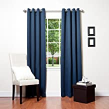 "Best Home Fashion Thermal Insulated Blackout Curtains - Antique Bronze Grommet Top - Beige - 52""W x 96""L - Not Tiebacks - (Set of 2 Panels)"