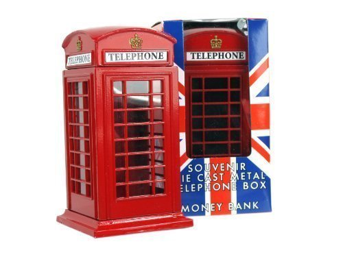 London Collectable Souvenir London Red Telephone Box Money Box 65228 by Money Boxes Made of Die Cast Metal