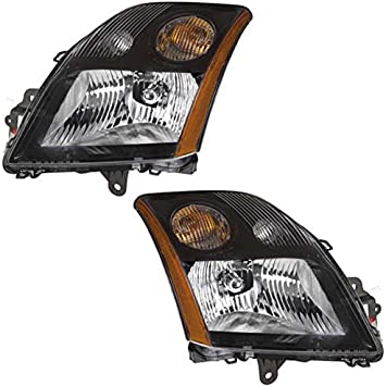 F-Series Chrome Trim Headlight Headlamp Head Light Lamp Left Right Side Set PAIR
