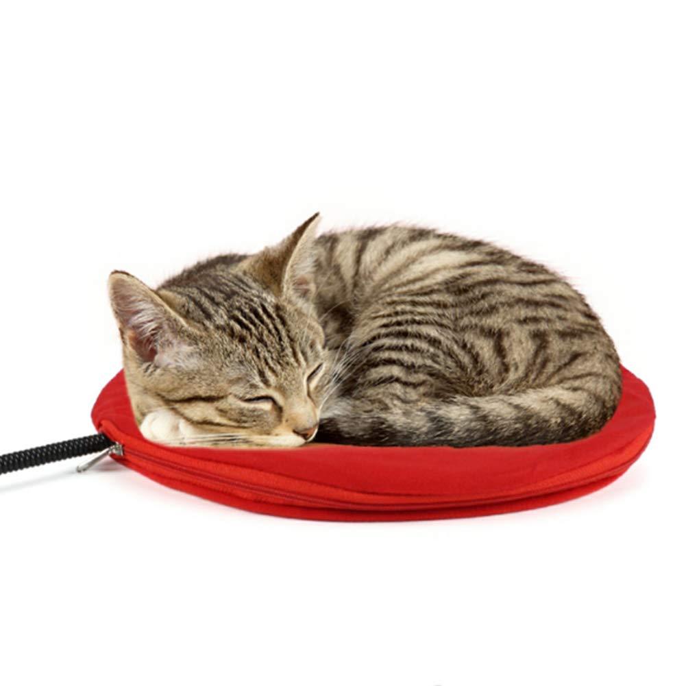 ZMYLOVE Almohadilla calefactora para Mascotas, colchón Calefactor eléctrico para Perros y Gatos de 12 vatios, Control de Temperatura y línea ...