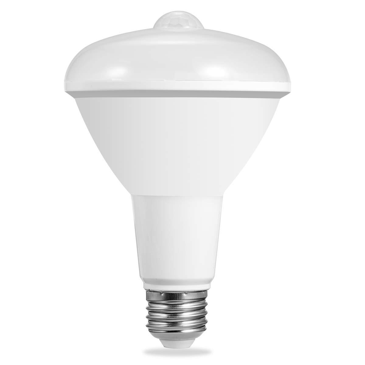 LOHAS BR30 LED Bulb with Motion Sensor Light, 100W Light Bulbs Equivalent(12W), Security Light Outdoor Floodlight, Daylight 5000K E26 Medium Base, Motion Activated LED Bulbs for Garage Porch(1 Pack)