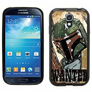 Samsung Galaxy S4 SIIII Black Rubber Silicone Case - Boba Fett Star Wars Clone Wars Wanted Poster