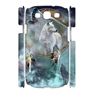 HXYHTY Wolf Howling Customized Hard 3D Case For Samsung Galaxy S3 I9300