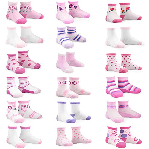 Naartjie Kids Girls Fashion Variety Cotton Crew 18 Pair Pack Gift Box (6-8Y)