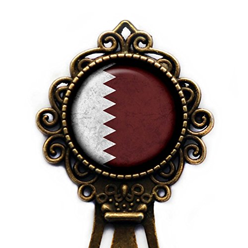 Qatar Qatari Flag Bronze Bookmark for sale  Delivered anywhere in USA
