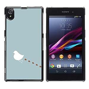 Be Good Phone Accessory // Dura Cáscara cubierta Protectora Caso Carcasa Funda de Protección para Sony Xperia Z1 L39 C6902 C6903 C6906 C6916 C6943 // Art Minimalist Blue Pastel Whit
