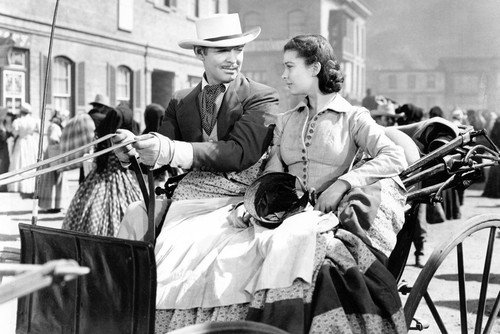(Gone With The Wind Clark Gable Vivien Leigh in buggy 24x36 Poster )