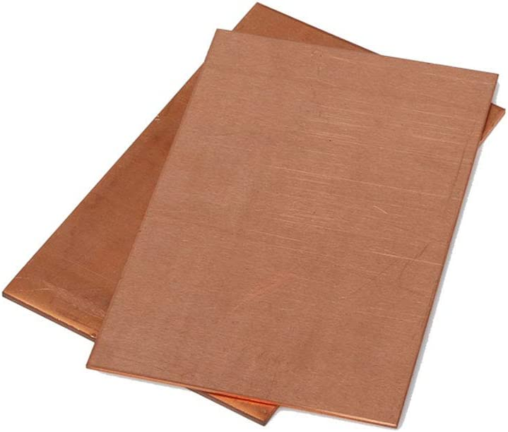WSabc Pure T2 Copper Sheet Brass Sheet Copper for Industry Supply Metal Art,4x8x0.06inch