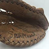 Vintage 1950's Stan Musial Signed Game Model First Baseball's Glove COA - JSA Certified - MLB Autographed Game Used Bases