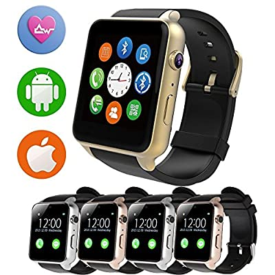 IPRO GT88 SIM Card NFC Bluetooth Connectivity Sports Activity Hear Rate Monitor Smartwatch Health Exercise Fitness Tracker Magnetic ChargingWearable Device for IOS iphone&Android Samsung LG