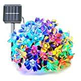Ucharge Solar String Lights Flower 50 LED 23ft Multi-Color Waterproof Fairy Flower Garden Lights for Outdoor, Wedding, Patio, Lawn, Home, Party, Holiday