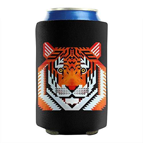 Tiger Tigers Eye 12-16 OZ Bottles Premium Neoprene Beer Can Sleeves Non-Slip Glass Can Sleeve Covers Keeps Your Drink Ice Cold Summer 2-Pack