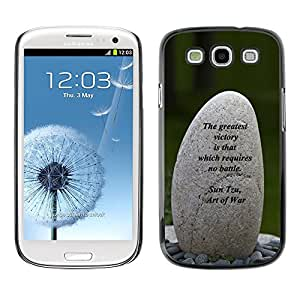 Plastic Shell Protective Case Cover || Samsung Galaxy S3 I9300 || Art Of War Victory Battle Inspiring @XPTECH