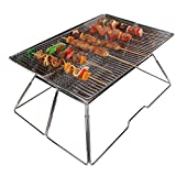 yodo Large Portable Folding Tailgate Grill Charcoal Grill for Camping Roadtrip Backpacking Party,Made of Premium Stainless Steel