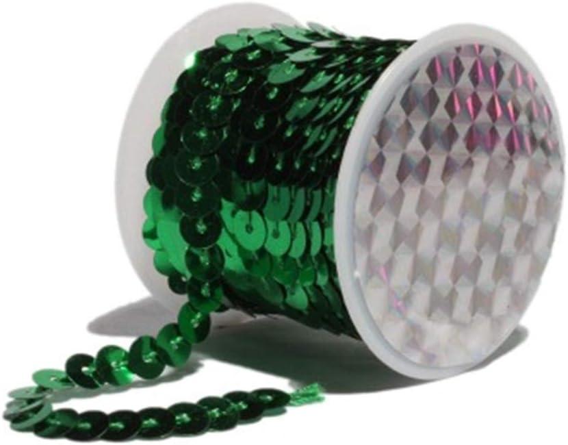 Hava Kolari 2 Unidades Lentejuelas Bandas 5 m Brillantes Lentejuelas para DIY artesan/ía proyectos de Manualidades Ropa de Baile Pulsera decoraci/ón