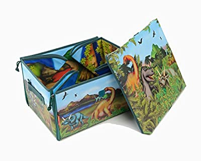 Neat-Oh! ZipBin 160 Dinosaur Collector Toy Box & Playset w/ 2 Dinosaurs from Neat-Oh