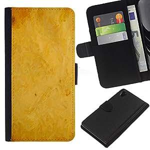 Planetar® Modelo colorido cuero carpeta tirón caso cubierta piel Holster Funda protección Para SONY Xperia Z2 / D6502 / L50 D6502 ( Texture Grunge Paper Vintage )
