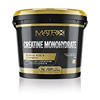 Matrix Nutrition Pure Micronised Monohydrate Creatine Powder 1kg   Best Hardcore Muscle Gainer   Weight Training Bodybuilding Workout Supplement