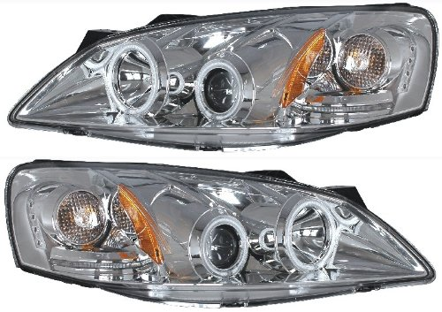 PONTIAC G6 05-10 PROJECTOR HL HALO CHROME CLEAR AMBER(CCFL) NEW