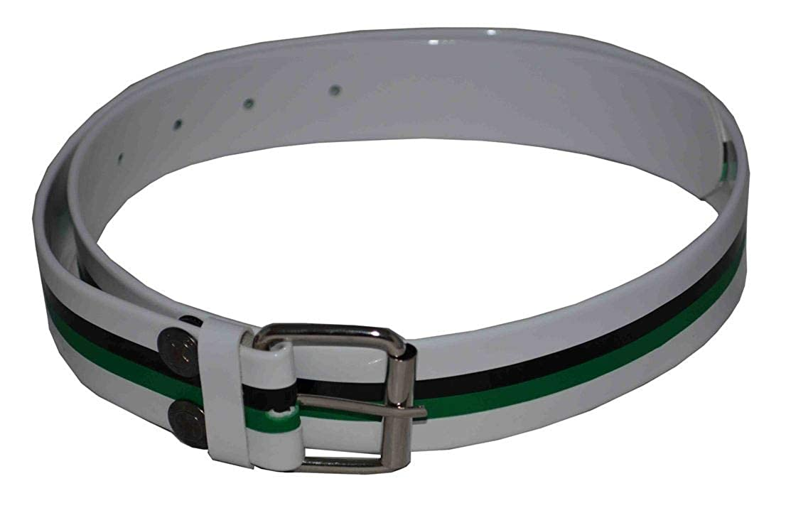 Flosay Snap on Belt White Black Green