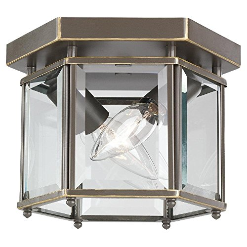 Two Light Bound Glass Ceiling Light ()