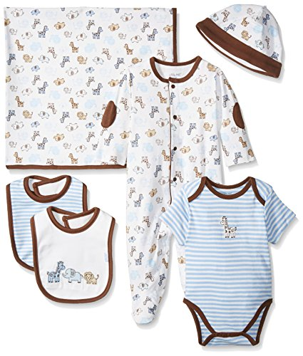 Little Me Boys' Newborn Gift Set, Blue/Multi, New Born