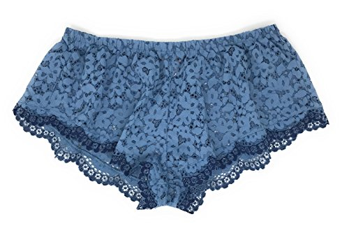 Victoria's Secret Body by Victoria Lace Sleep Short Large Azure Blue