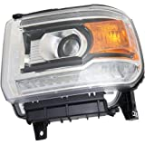 Headlight Assembly Compatible with 2014-2015 GMC Sierra 1500/Sierra 2500HD 3500HD 2015-2018 LED Driver Side