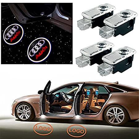Bopanstore 4pcs Car door led Logo Projector Ghost Shadow laser Welcome lamp for Audi lights for audi A1 A3 A4 Q5 A5 TT Q7 A4l A1 R8 A6L A8