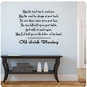Old Irish Blessing Wall Decal Sticker Art Mural Home Décor Quote