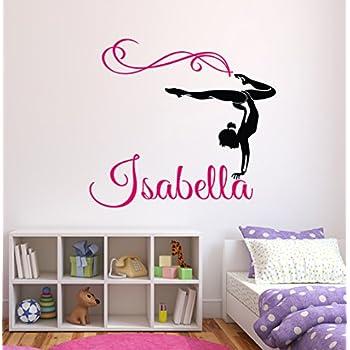 Charming Custom Gymnastics Name Wall Decals   Girls Kids Room Decor   Nursery Wall  Decals   Wall