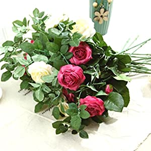 Rose Artificial Flower Silk Flowers/Bridal Bouquets Artificial Flowers For 96