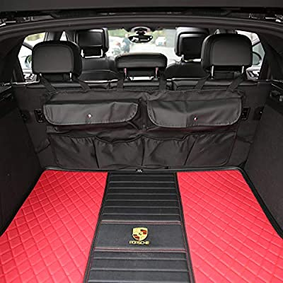 BlingBelle Car Trunk Organizer 600D Oxford Fabric Multipurpose Larger Space for SUV MPV Van Seat Back Storage Bag