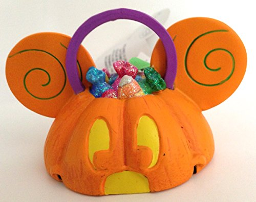 Disney Parks Mickey Mouse Ears Hat Light Up Pumpkin Ornament NEW Halloween -