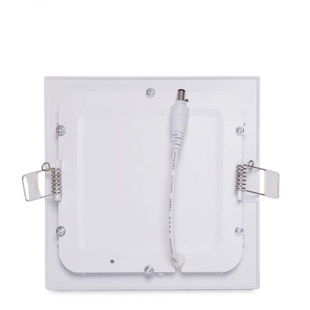 Blanco Fr/ío Greenice Placa de LEDs Cuadrada Ecoline 9W 720Lm 30.000H