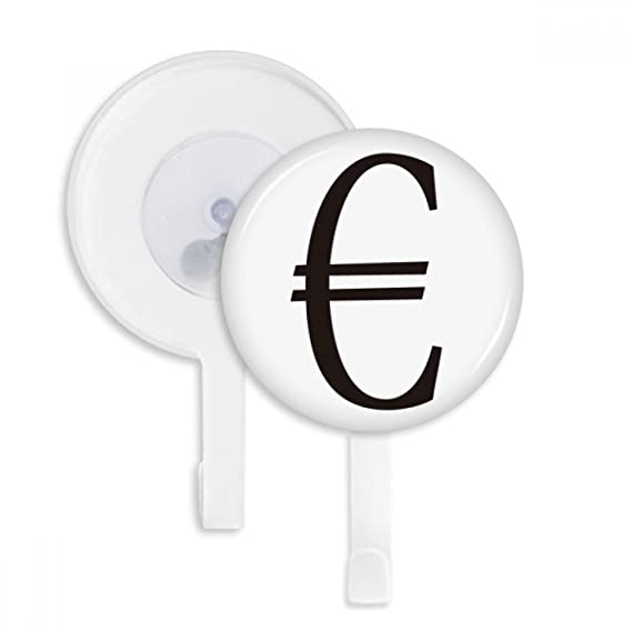 Amazon Currency Symbol Euro Sucker Suction Cup Hooks Plastic
